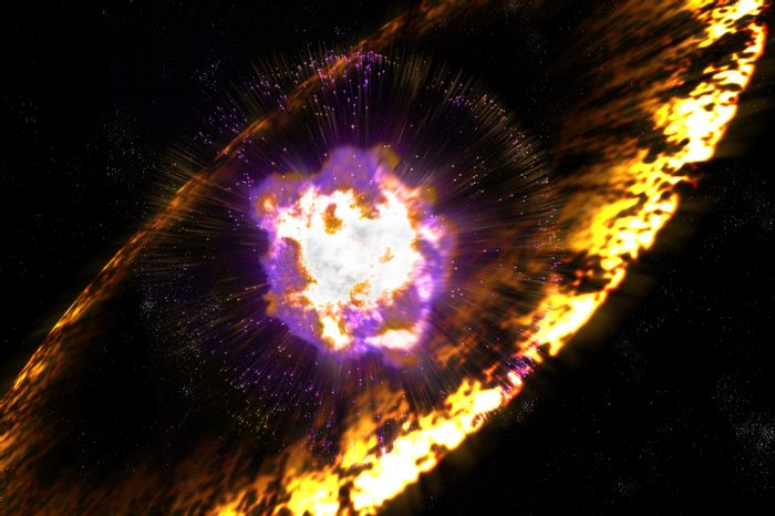 An artist's impression of a supernova.