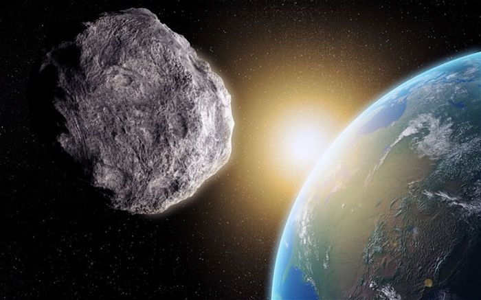 A massive asteroid dubbed 2014 JO25 is getting set to fly past the Earth within 4.6 lunar distances this month.