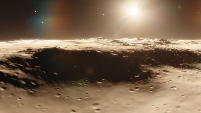 An artist's impression of a Moon-like surface.