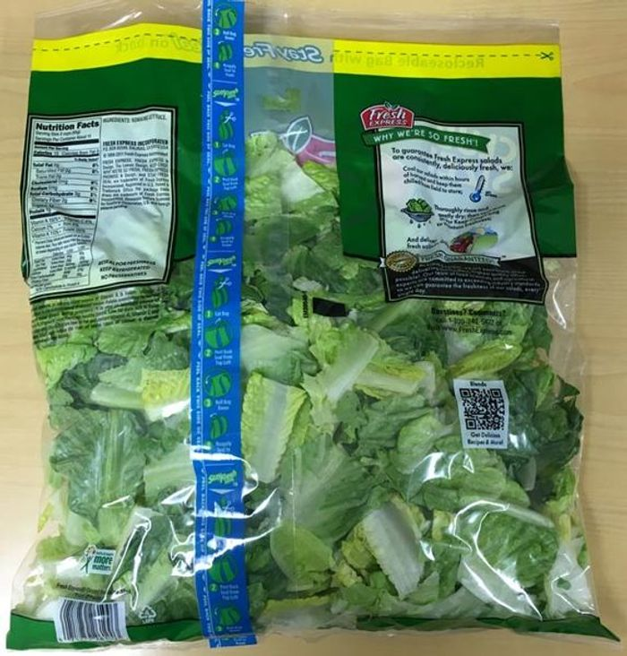 Chopped romaine lettuce from an as yet unidentified source has caused (yet another) illness outbreak. / Image credit: FDA