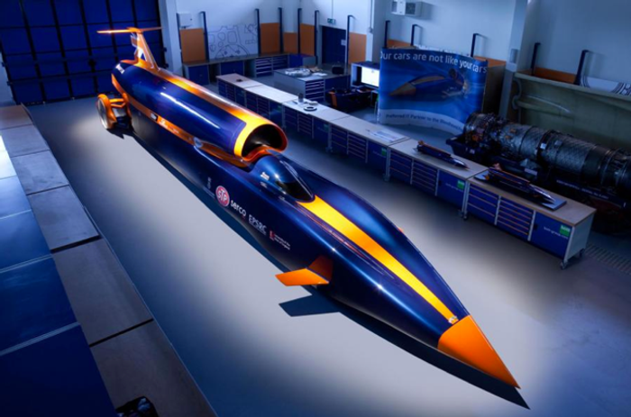 The Bloodhound supercar will attempt to travel 1000 miles per hour.