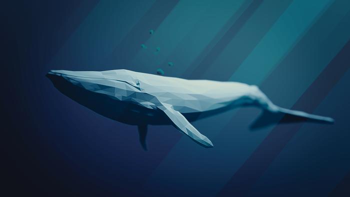 A conceptual image of a blue whale.