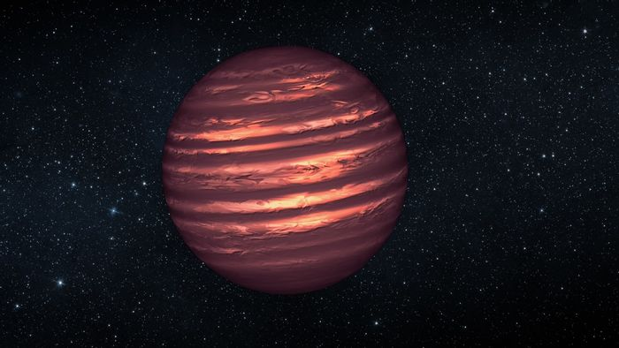 An artist's impression of a brown dwarf.
