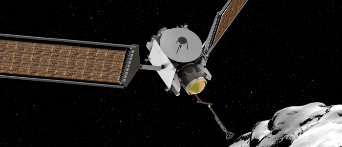 An artist's impression of the CAESAR spacecraft, which could one day make it to comet 67P.
