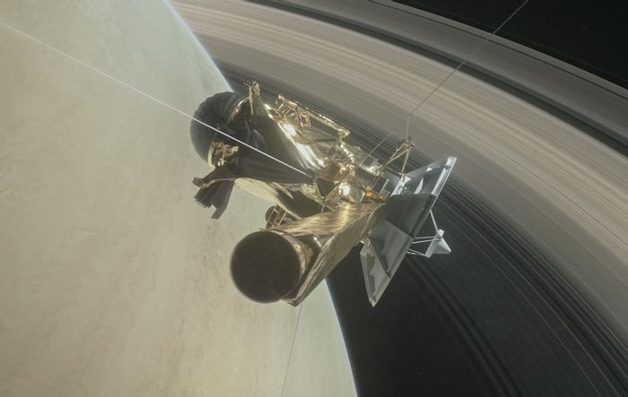 Cassini recently fly between the planet's atmosphere and rings to grab more detailed photographis.