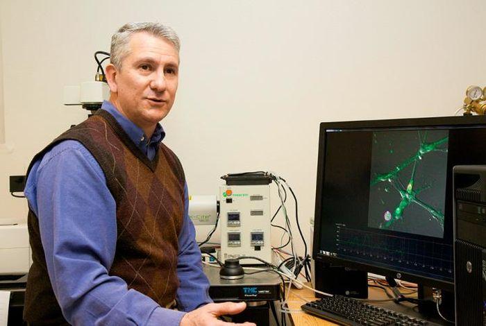 Dr. Mario Romero-Ortega at UT Dallas
