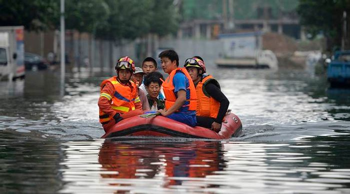Floods in China have taken too many lives. Photo: The Indian Express