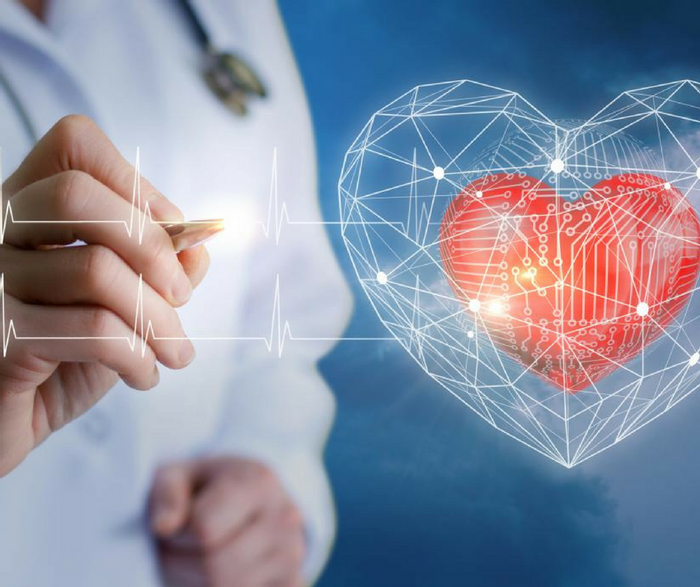 New research suggests that GlycA, a newly identified blood marker, and C-reactive protein both independently predict major adverse cardiac events, including heart failure and death. Patients who have high levels of both biomarkers are at especially high risk. Credit: Intermountain Medical Center