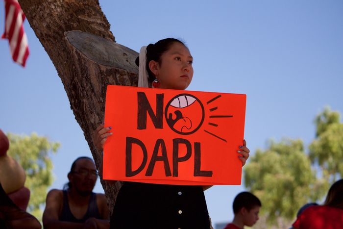 Hundreds in Phoenix Rally in Solidarity with Dakota Access Pipeline Protesters. Photo: Phoenix New Times