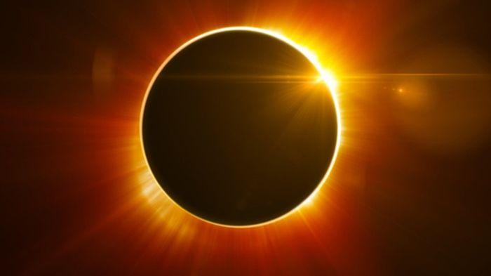 An artist's rendition of a solar eclipse.