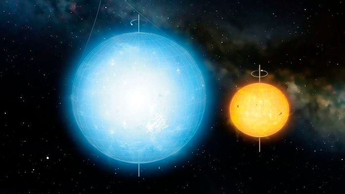 The Sun is not perfectly round, but a new star has a much rounder body than our Sun.