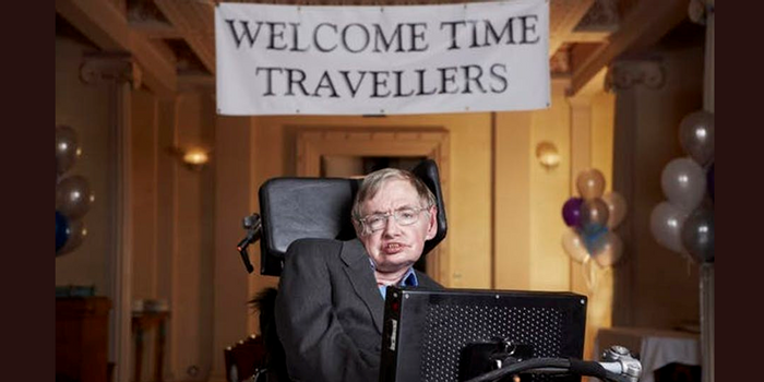 Stephen Hawking hosted a Time Traveler's party in 2009 (Lwp Kommunikáció/Flickr)