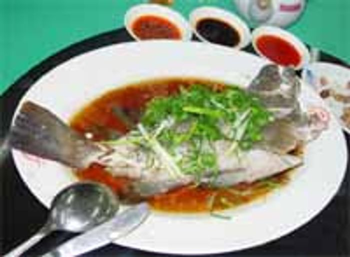 Traditional Hong Kong dish made from a live fish, but in this case a farmed fish