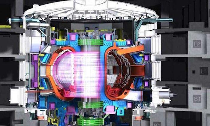 A diagram of a fusion reactor