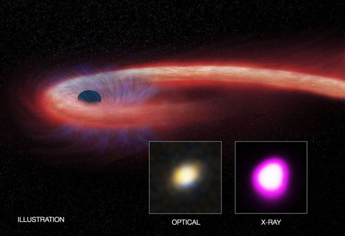 This black hole has been devouring the same star for a decade, the longest this activity has ever been observed in any black hole.