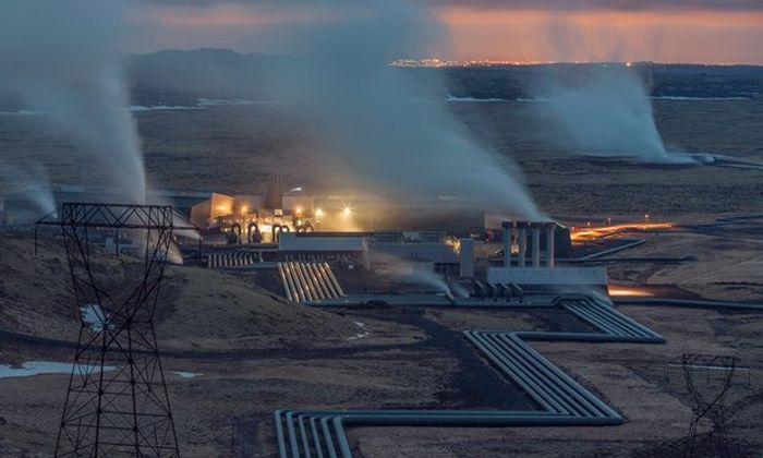 Hellisheiði geothermal plant, Iceland. Photo: Pedro Alvarez for the Observer
