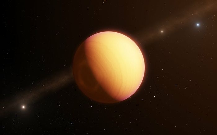An artist's impression of HR8799e.
