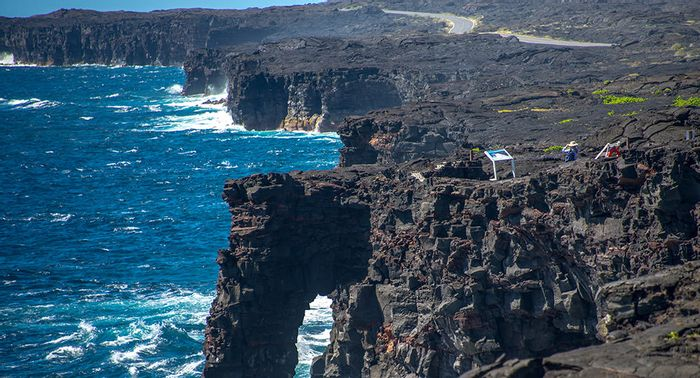 Protected areas include marine reserves, such as the Hōlei Sea Arch. Photo Credit: S. Geiger, NPS