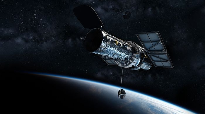 An artist's rendition of the Hubble Space Telescope.