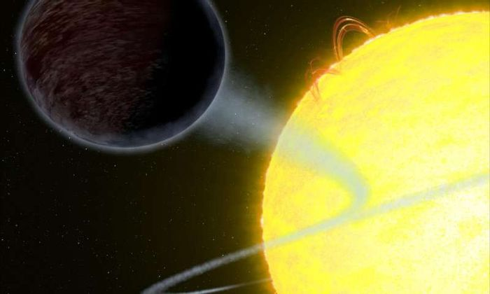 WASP-12b is so dark that it absorbs over 94% of its host star's light. This makes the exoplanet hotter than most hot Jupiter-like exoplanets.
