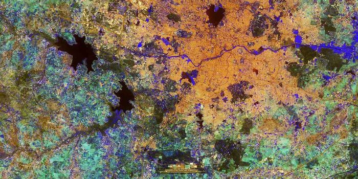 Photo: Hyderabad, India. European Space Agency. This image contains modified Copernicus Sentinel data (2017), processed by ESA, CC BY-SA 3.0 IGO.
