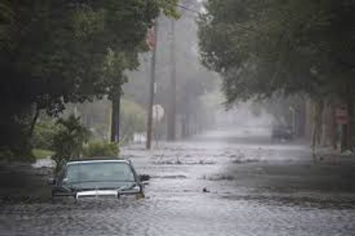 Roads have turned into canals in Houston. Photo: Vox