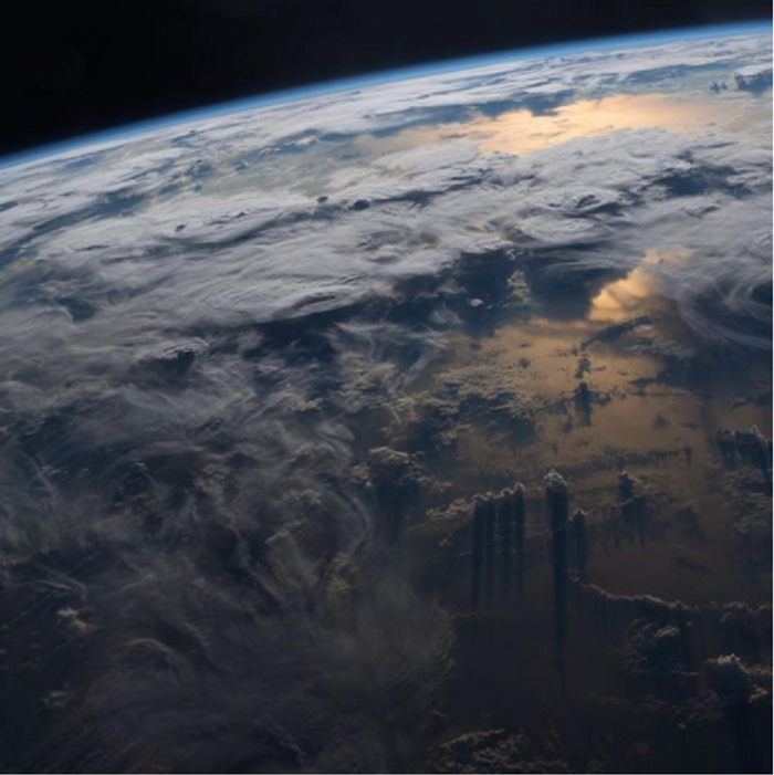 Earth from ISS, credit: ISS on Instagram