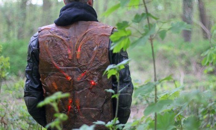 Scoby Tec's biker jacket. Photograph: Marcel Wiessler
