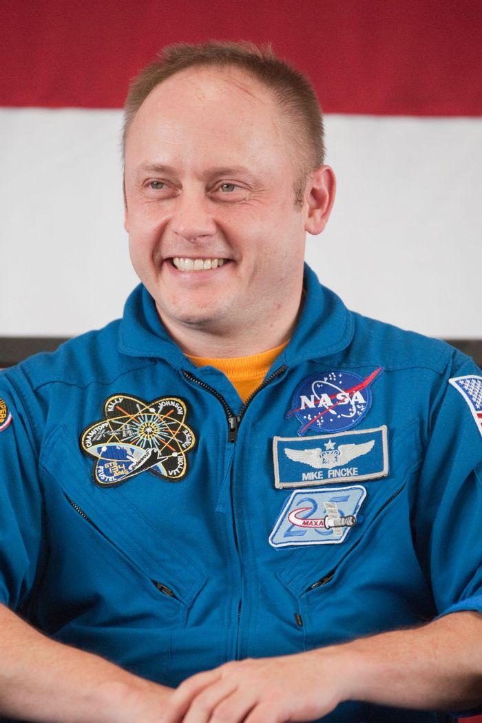 This is astronaut Mike Fincke. He will replace Eric Boe on Boeing's first crewed mission this year.