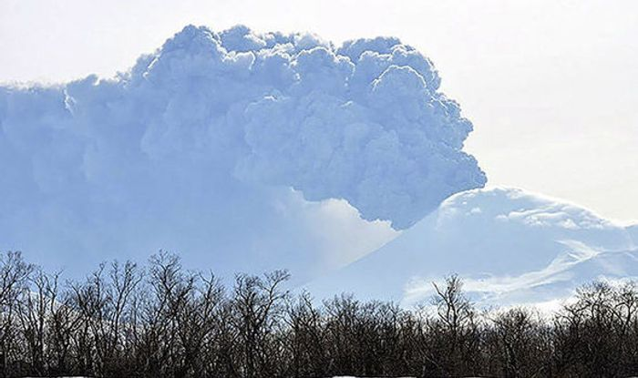 The eruption was not expected. Photo: Kronotsky Reserve, The Siberian Times