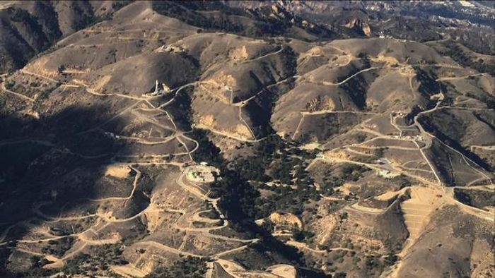 Aliso Canyon, as seen from above. Photo: LA Times