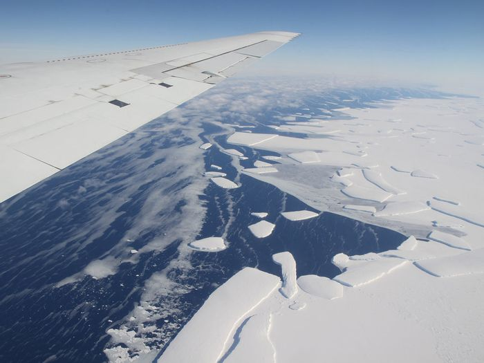 Larsen C looms large into the horizon. Photo: The Daily Campus
