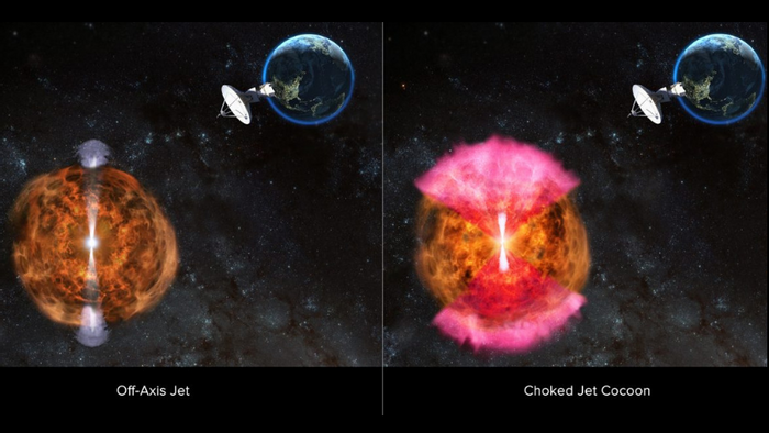 Two possible scenarios after a neutron-star merger (NRAO/AUI/NSF:D.Berry)