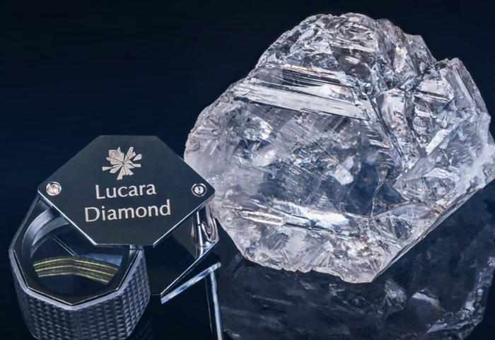 The large diamond discovered by Lucara Diamond Corp.