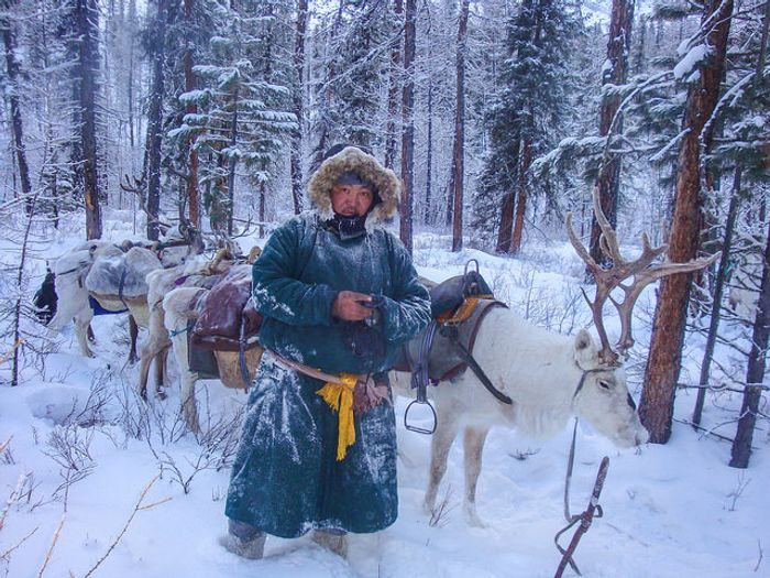 Tumursukh, who manages three parks covering more than 3 million acres in Mongolia, following a park patrol. Photo by Unudelgerekh Batkhuu, Mongol Ecology Center