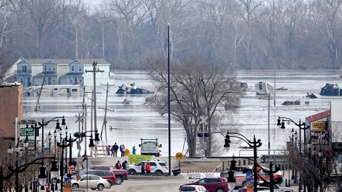 Flooding in Nebraska has devastated local communities. Photo: Grist