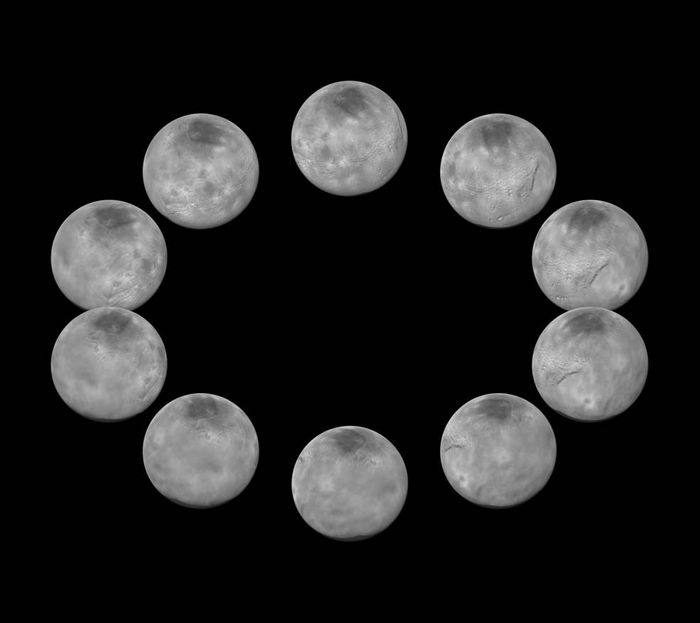 A full day on Charon as shown by New Horizons.
