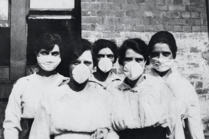 Women wearing surgical masks during the influenza epidemic, Brisbane (1919). Original image from State Library of Queensland. / Credit: Rawpixel/Free public domain CC0 image