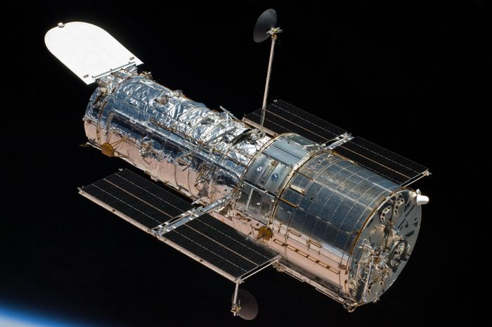 A picture depicting NASA's Hubble Space Telescope.