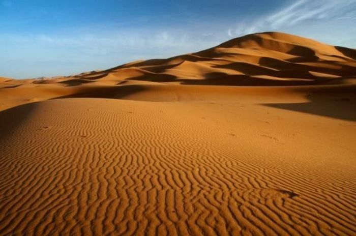 The Sahara Desert was once lush and green, quite a contrast from its current state. Photo: ScienceDaily