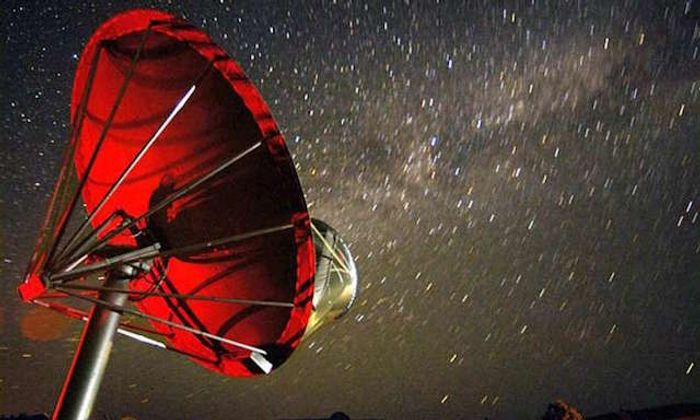 One of 42 dishes in SETI's Allen Telescope Array, which will be watching KIC 8462852.