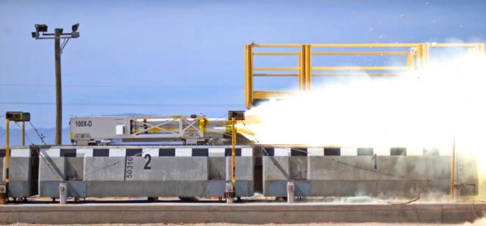 The Air Force's Maglev Sled just shattered the speed record for a magnetically-levitating vehicle.