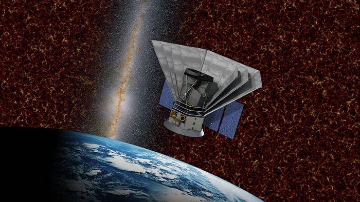 An artist's impression of the SPHEREx spacecraft.