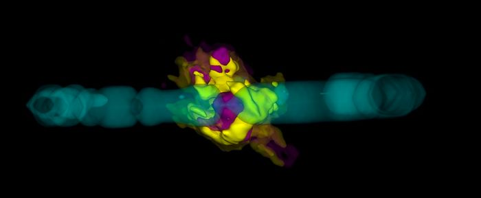 This three-dimensional structure of SN 1987A reveals the diverse grounds of particles found at the supernova's heart.